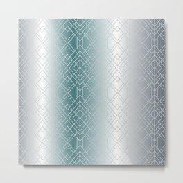 Silver Decor Metal Print