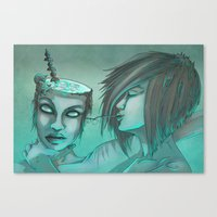 cocktail Canvas Prints featuring Cocktail by ssst