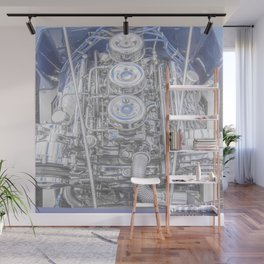 Hot Rod Blue, Automotive Art with Lots of Chrome by Murray Bolesta Wall Mural