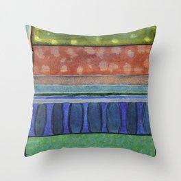 The Blue Balustrade  Throw Pillow