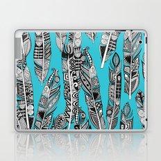 geo feathers turquoise blue Laptop & iPad Skin