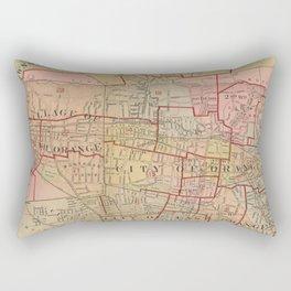 Vintage Map of Orange NJ (1911) Rectangular Pillow