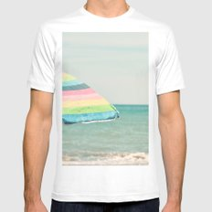 Sombrilla White MEDIUM Mens Fitted Tee