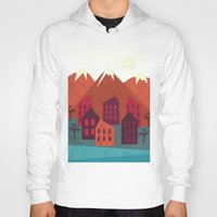 mountains Hoodies featuring Mountains by Kakel