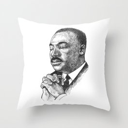 Dr. Martin Luther King Throw Pillow