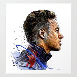 Neymar. Jr Art Print
