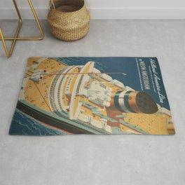 Vintage poster - Cruise ship Rug