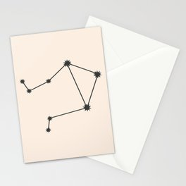 Libra Zodiac Constellation Charcoal Stationery Cards
