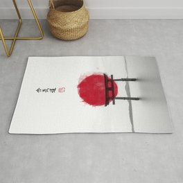JAPANESE HINOMARU FLAG SIGNS Rug