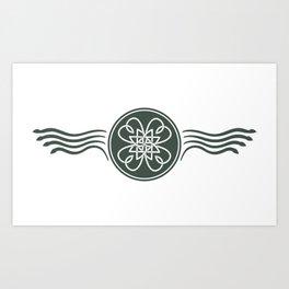 St. Patricks Badge–Dark Green Art Print