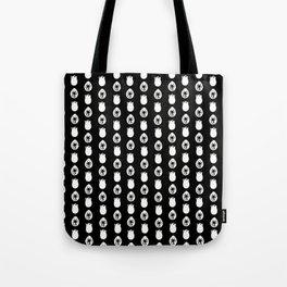 Alien Eggs Pattern Black and White Tote Bag