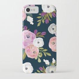 Midnight Florals - Pink & Purple iPhone Case