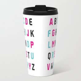Typography Alphabet #1 Travel Mug