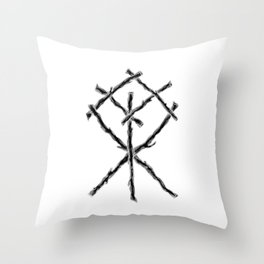 Rune Binding at Midnight Throw Pillow