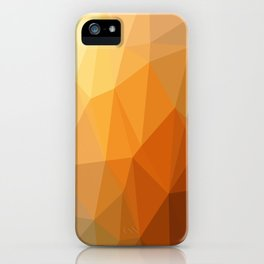 Shades Of Orange Triangle Abstract iPhone Case