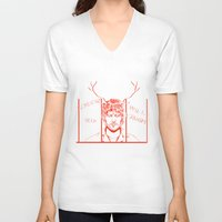 will graham V-neck T-shirts featuring Save Will Graham by Meloniade