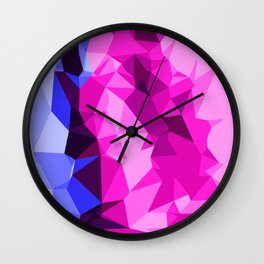 pink and blue modern abstract background Wall Clock