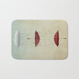 the umbrella runneth over and over Bath Mat