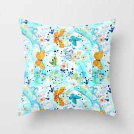 Summer Butterflies Throw Pillow