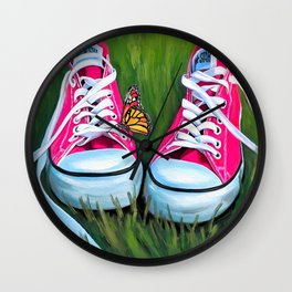 Girly Chucks Wall Clock