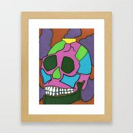 Colorful Skull. Framed Art Print