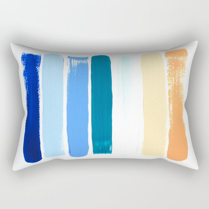 Beach Stripes Rectangular Pillow