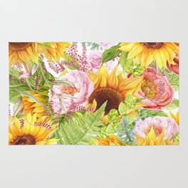 Sunflower Collage Rug