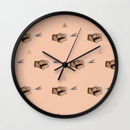 Pattern Cut Wall Clock