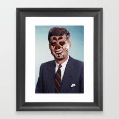 Day of the Dead Presidents: JFK Framed Art Print