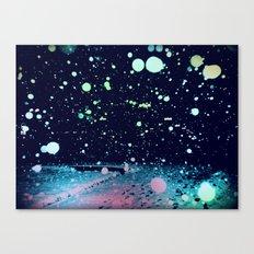 Snowy, snowy night Canvas Print