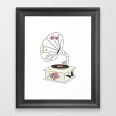 Music grandpa Framed Art Print