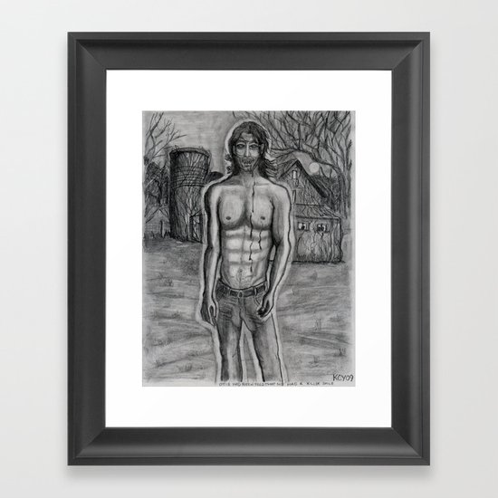 Killer Smile. Framed Art Print