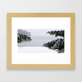 Winter window Framed Art Print