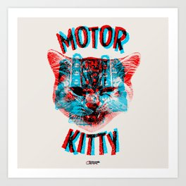 Motor Kitty Art Print