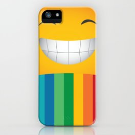 Just Smile Rainbow-Liked Design iPhone Case