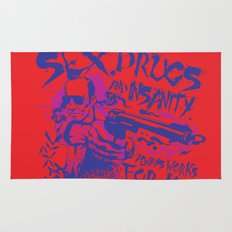 Sex,Drugs and Insanity Rug