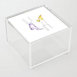 Watercolor Shoes Acrylic Box
