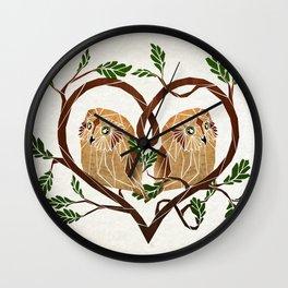owl love Wall Clock