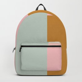 Abstract Geometric Color Block Design Backpack