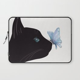 Cat and Butterfly Laptop Sleeve