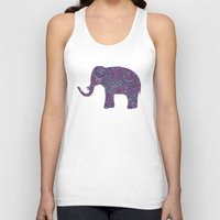 paisley Tank Tops featuring Paisley Elephant by Elephant Trunk Studio