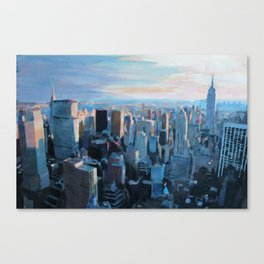 New York City - Manhattan Skyline in Warm Sunlight Canvas Print