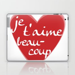 Je T'aime Beaucoup Red Heart Laptop & iPad Skin