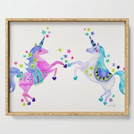 Pastel Unicorns Serving Tray