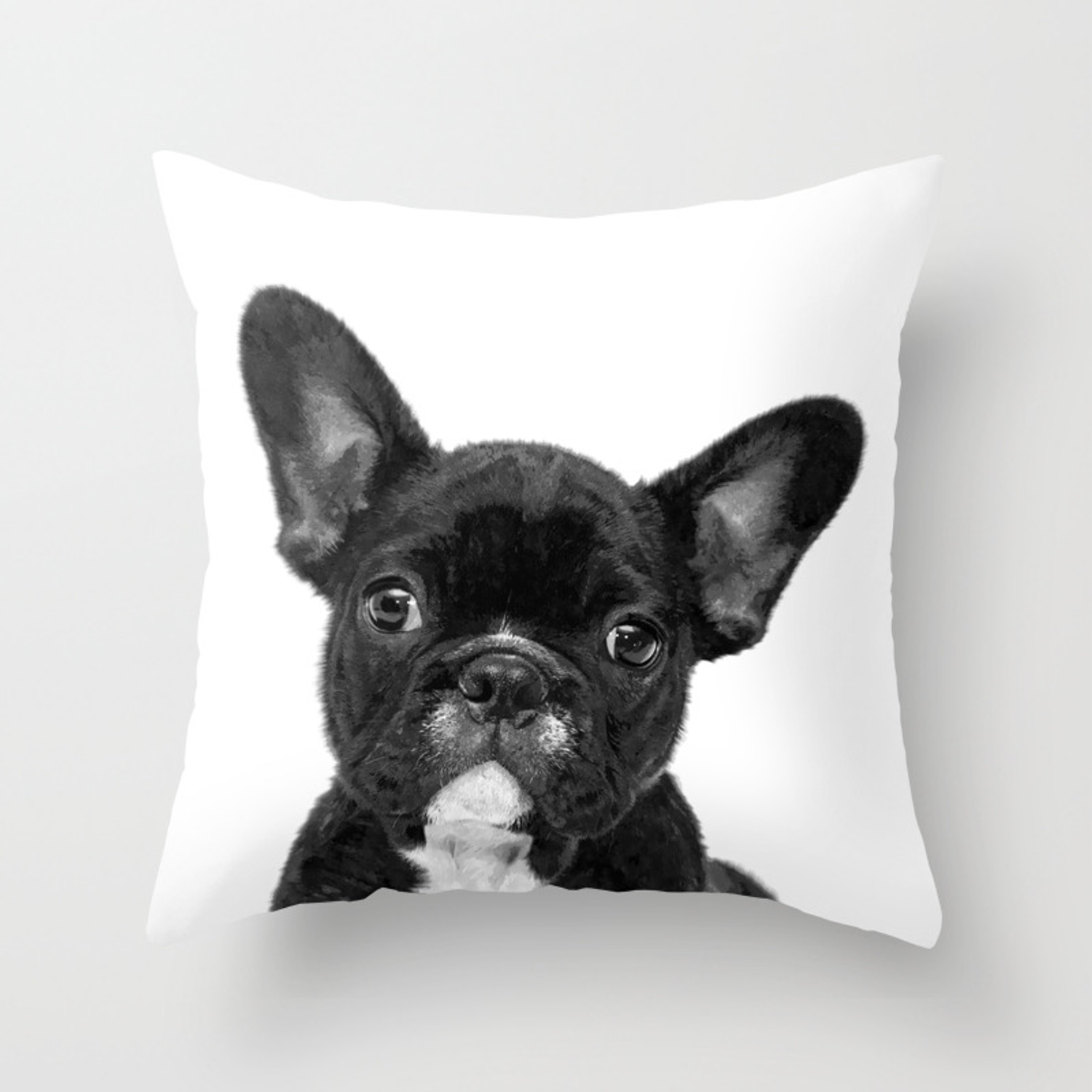 Black And White French Bulldog Throw Pillow By Alemi Society6