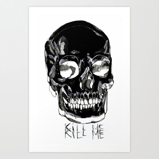 Double skulls Art Print