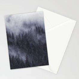 Foggy forest landscape, nature art Stationery Cards