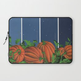 Pumpkin Patch at Night on Blues Laptop Sleeve