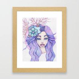 JennyMannoArt Colored Graphite/Keira the Mermaid Framed Art Print