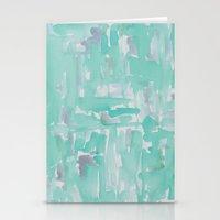 aqua Stationery Cards featuring Aqua by Georgiana Paraschiv